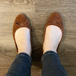 Nine West suede flats with bow